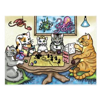 Katzen, die Pfadfinder durch Carrie Michael Postkarte