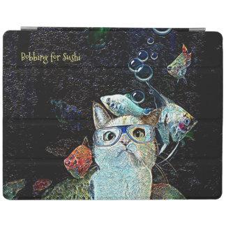 Katzen-Fisch-Sushi lustiges horizontales iPad iPad Hülle