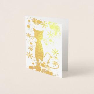 Katzen-Folien-Raum-innere Anmerkungs-Karte Folienkarte