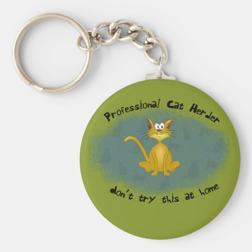 Katzen-Hirte lustiges Keychain Schlüsselbänder