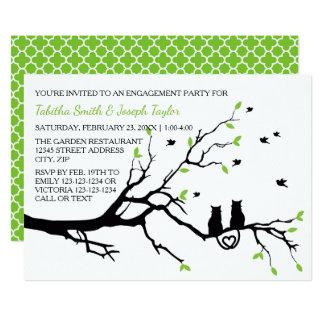 Katzen in einer Baum Quatre- Verlobungs-Party 12,7 X 17,8 Cm Einladungskarte