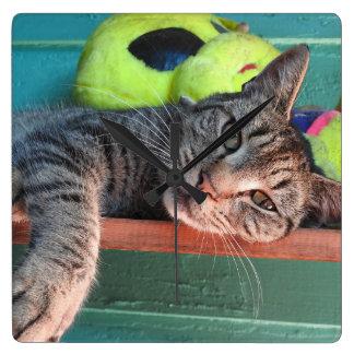 Katzen-Liebe Wanduhr