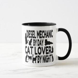 Katzen-Liebhaber-Diesel-Mechaniker Tasse