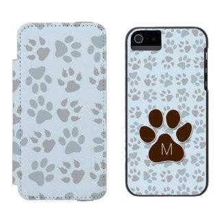 Katzen-Liebhaber-mit Monogramm Initiale und Incipio Watson™ iPhone 5 Geldbörsen Hülle