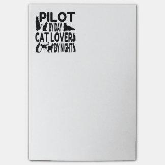 Katzen-Liebhaber-Pilot Post-it Klebezettel