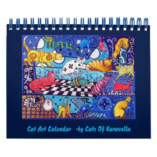 Katzen-Malerei-Kalender 2018 durch Katzen von Abreißkalender