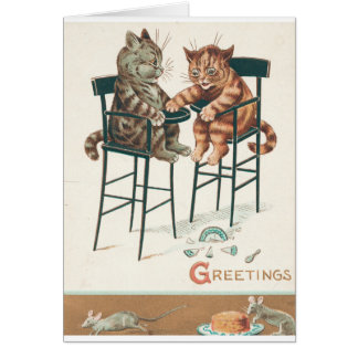Katzen mit Mäusen u. Käse Karte