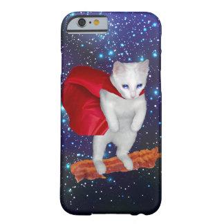Katzen-Reitspeck im Raum mit Superheld-Kap Barely There iPhone 6 Hülle