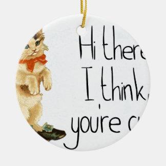 Katzen-Sprichwort Keramik Ornament