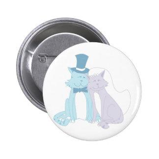 Katzen-Thema-Hochzeit Runder Button 5,7 Cm