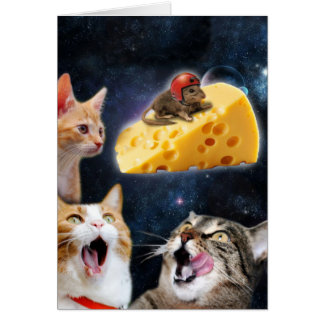 Katzen und die Maus auf dem Käse Karte