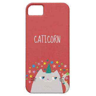 Katzen-weißes Einhorn Caticorn buntes Hülle Fürs iPhone 5