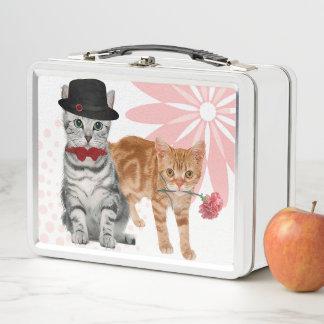 Katzenartiger Spaß mit einer weiblichen Touch für Metall Brotdose