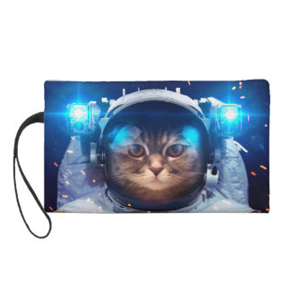Katzenastronaut - Katzen im Raum - Katzenraum Wristlet Handtasche