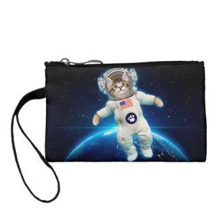 Katzenastronaut - Raumkatze - Katzenliebhaber Münzbörse