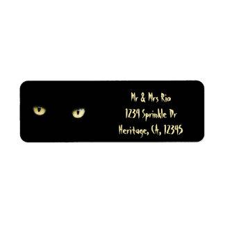 Katzenaugen-kundenspezifische Adressen-Etiketten Rücksendeetikett