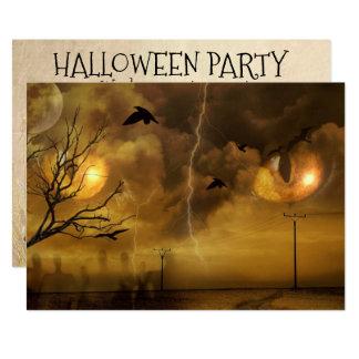 Katzenaugen-Party Einladung Halloweens