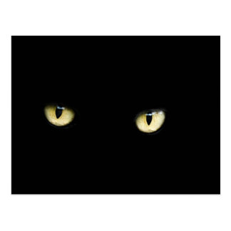 Katzenaugen-Postkarte Halloweens schwarze Postkarte