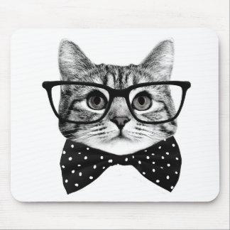 Katzenbogen-Krawatte - Glaskatze - Glaskatze Mauspad