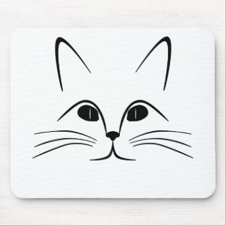 Katzengesicht Schwarzweiss Mousepads