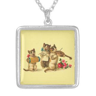 Katzenminzen-Kabarett-Quadrat-Halskette Versilberte Kette