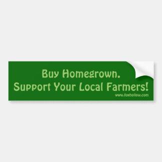 Kaufen Sie Homegrown.Support Ihre lokalen Bauern! Autoaufkleber