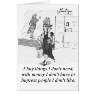 Kaufende Sachen, kaufendame Karte
