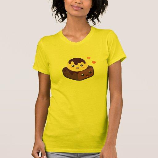 Kawaii Cartoon der Vanilleeis-Creme und des Schoko Shirt