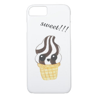 Kawaii Eistüte-Telefonkasten iPhone 8/7 Hülle