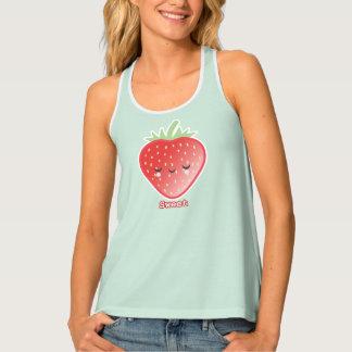 Kawaii Erdbeere Tanktop