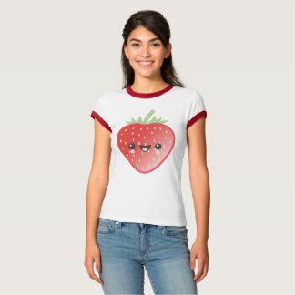 Kawaii Erdbeere und Blumen T-Shirt