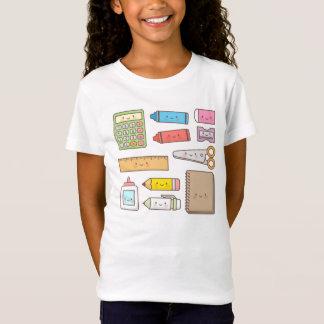 Kawaii Kinder zurück zu Schulbedarf T-Shirt