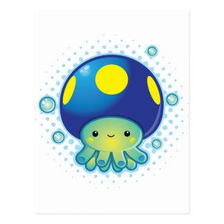 Kawaii Kraken-Pilz Postkarte