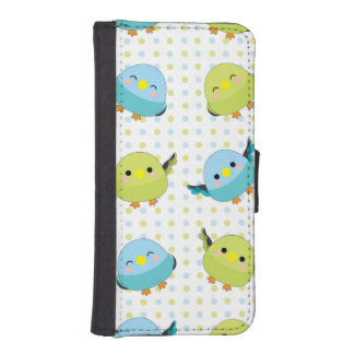 Kawaii Lineolated Parakeet-Telefon-Kasten iPhone SE/5/5s Geldbeutel Hülle