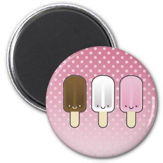 Kawaii Popsicle-Eiscreme-Stangen Runder Magnet 5,7 Cm