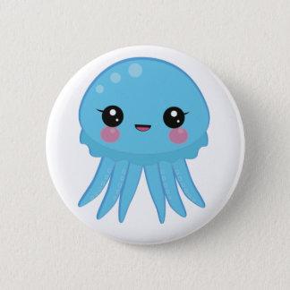 Kawaii Quallen-Button-Abzeichen-Blau Runder Button 5,1 Cm