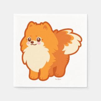 Kawaii Spitz-Cartoon-Hund Servietten