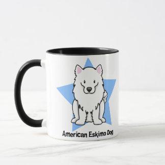 Kawaii Stern-amerikanischer Eskimohund Tasse