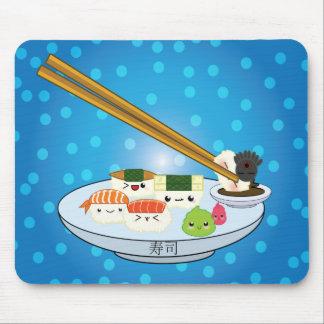 Kawaii Sushi-Servierplatten-Mausunterlage Mauspads