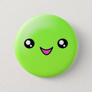Kawaii Zucker punktiert Limonen glücklichen Runder Button 5,7 Cm