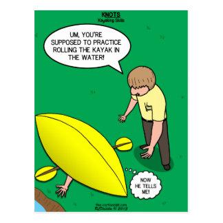 Kayaking Fähigkeiten Postkarte
