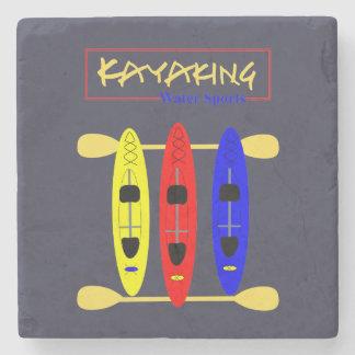 Kayaking Wasser-Sport - themenorientierte Grafik Steinuntersetzer
