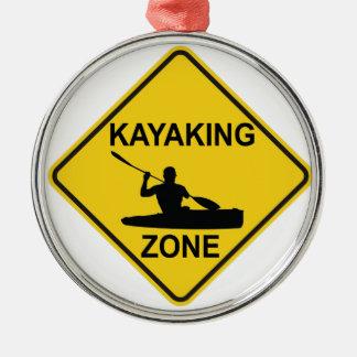 Kayaking Zone Silbernes Ornament