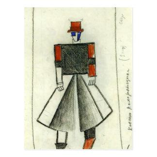 Kazimir Malevich- Leichenbestatter Postkarte