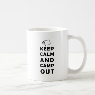Keep calm and camp out tasse