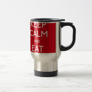 Keep Calm and Eat Edelstahl Thermotasse