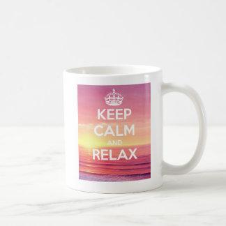 Keep calm and Entspannung Mug Kaffeetasse