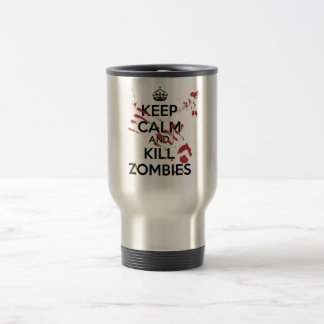 Keep Calm and Kill Zombies Edelstahl Thermotasse