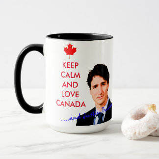 Keep Calm and love Kanada and Justin Trudeau Tasse