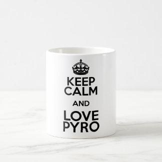 KEEP CALM AND LOVE PYRO KAFFEETASSE